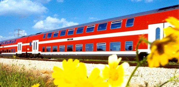 רכבת ישראל קרונות כפולים רכבות / צלם: יחצ